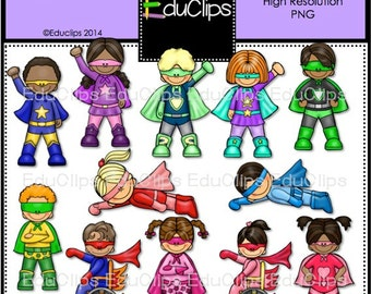 Superheroes Clip Art Bundle