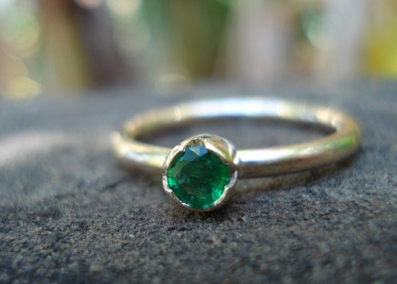 emerald ring gold emerald engagement ring stacking