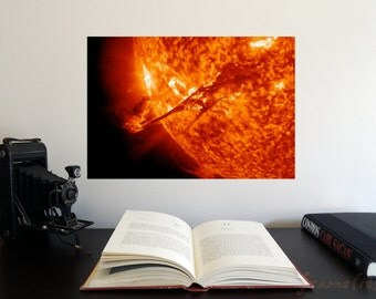 """A coronal mass ejection 19"""" x 13"""" Poster - Science Astronomy Wall Art - Window on the Universe series"""