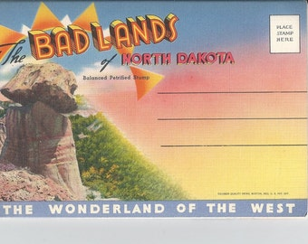 Vintage Badlands of North Dakota Photo Folder