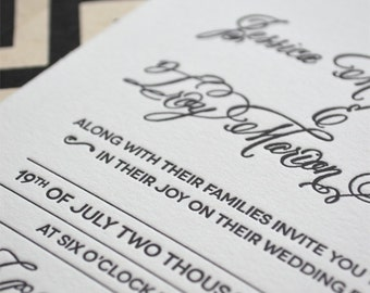 Redefined - Letterpress Wedding Invitations