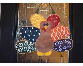 Turkey Burlap Door Hanger