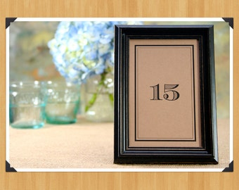Printable Table Numbers 1-30 for Weddings or Showers, DIY, Instant Download, Printable PDF