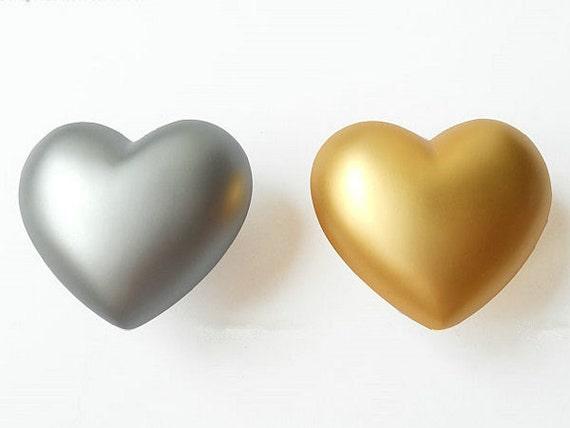 Heart knob kids dresser knobs drawer knobs pull gold silver for Children s bureau knobs