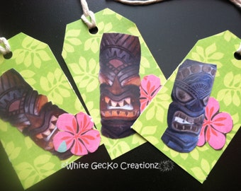 Gift Tag, Tropical set of 3