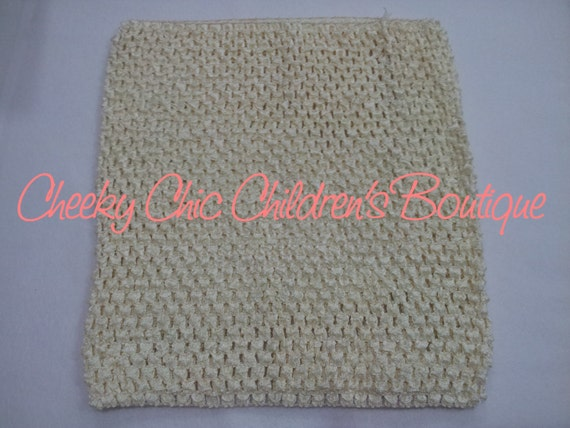 10x9 inch CREAM / Ivory Crochet Tutu Dress Tube Top [CB10CM]