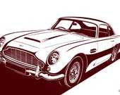 Aston Martin DB5 Stylization. Choose your Sizes & Materials
