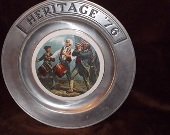 Heritage '76 Pewter Collectible Plate