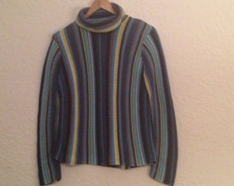 Really Unique Liz Clairborne vintage sweater.  Late 70s maybe?  Cool vertical stripes.