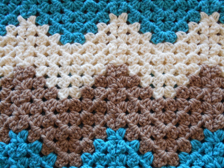 Crochet Baby Blanket Gender Neutral Shower Gift Baby