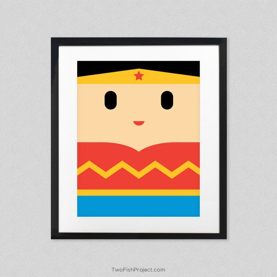 Items similar to wonder woman movie poster for kids room for Room decor justice