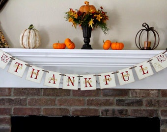 Thankful Banner Thanksgiving Banner Thanksgiving Garland Fall Banner Fall Decor Fall Decoration Thanksgiving Decor