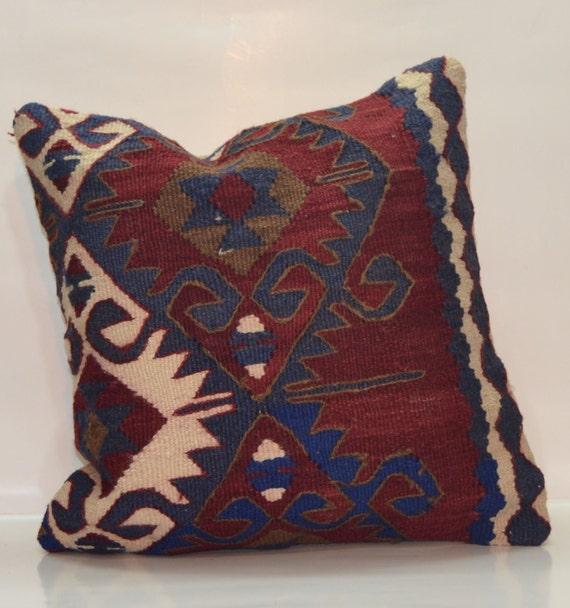 Turkish Kilim Pillow Home Decor Decorative Pillow Home: Colorful Turkish Handmade Kilim Pillow Cover By