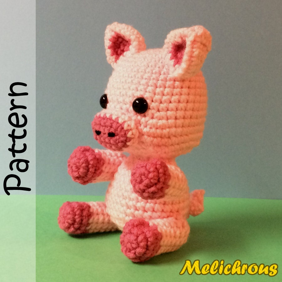 Amigurumi Piglet Patterns : Pickles the Pig Pattern Crochet Amigurumi PDF