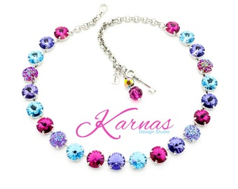 DREAMING OF DRUZY 12mm Crystal Rivoli Choker Made With Swarovski Elements *Pick Your Finish *Karnas Design Studio *Free Shipping*