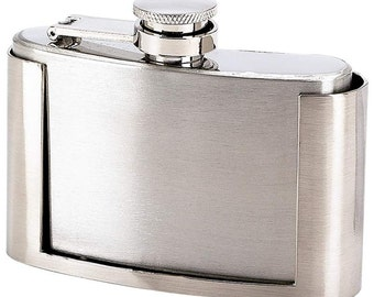 Belt Buckle Flask  Stainless Steel  with Free Engraving