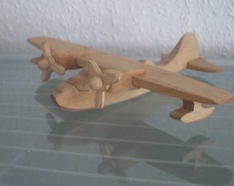 Catalina seaplane vintage airplane aviator wood NEW