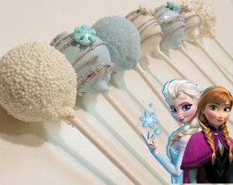 FROZEN inspired cake pops