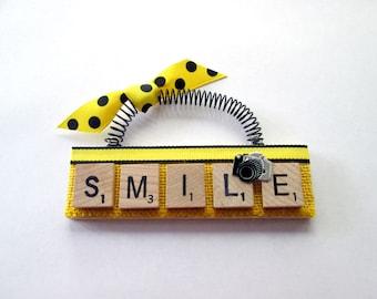 Smile Camera Photographer Scrabble Tile Ornament