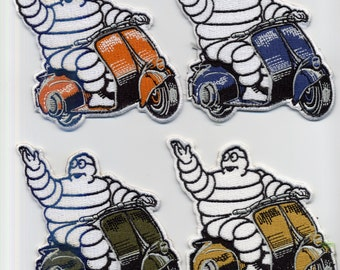 Vintage Style Michelin Vespa Lambretta Scooter Patches MOD