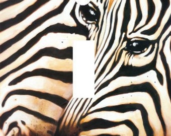 Zebra Love Couple Light Switch Plate Cover