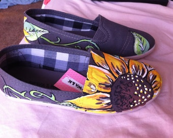 Handpainted Sunflowers Shoes
