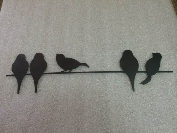 birds on a wire metal wall art by qualitytoolingllc on etsy
