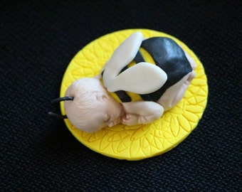 Polymer Baby Bee Topper for Baby Shower