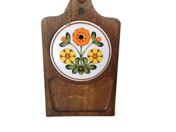 Items Similar To Vintage Cheese Board 1970s Wood