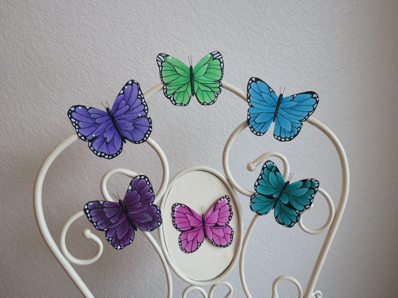 Nursery Wall Decor Butterflies : Butterfly wall art nursery by