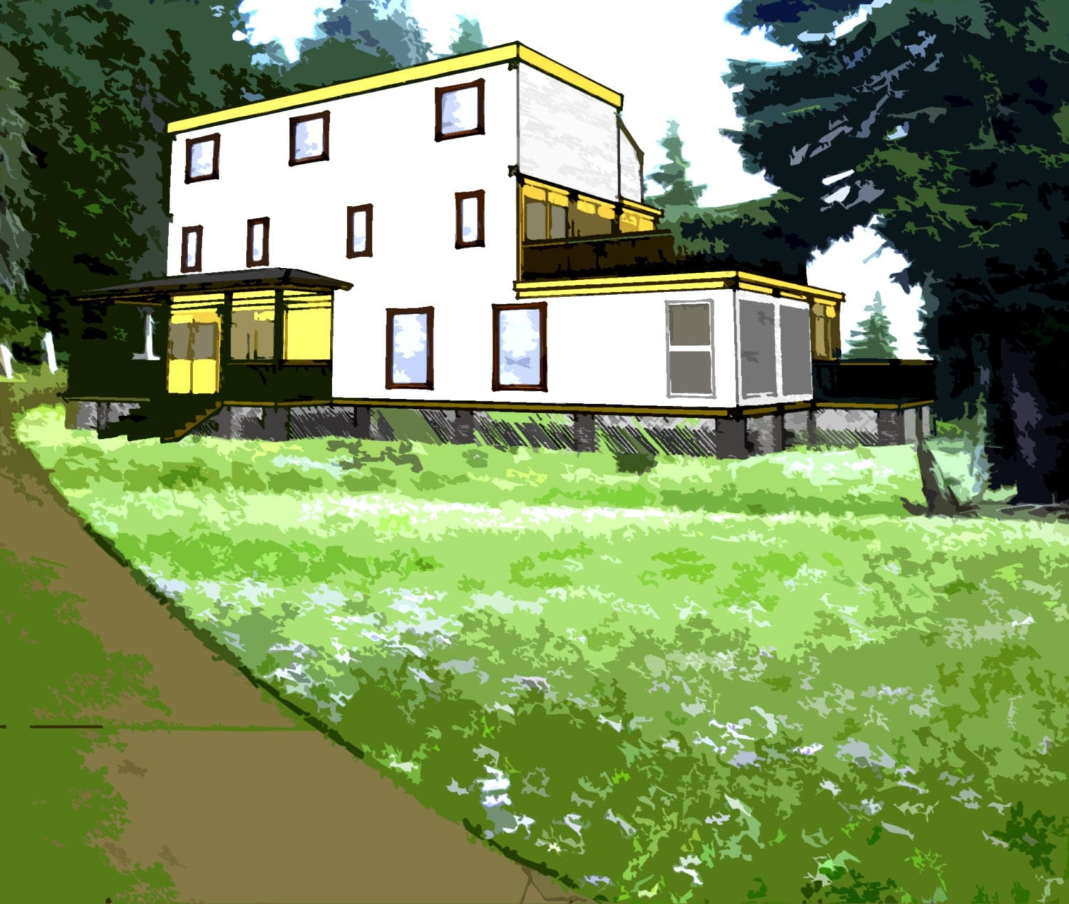 Shipping container house plans 4 bed 4 1 2 bath schematic - Shipping container home design kit download ...