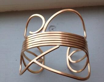 Bronze wire cuff