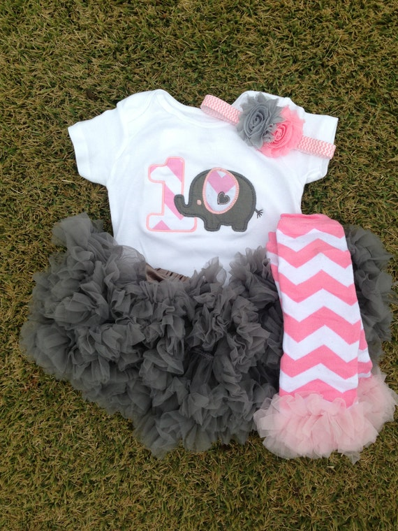 Items Similar To Grey And Pink Chevron Elephant Birthday