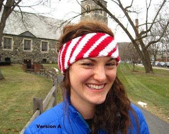 Candy Cane Winter Headband- Women's Medium