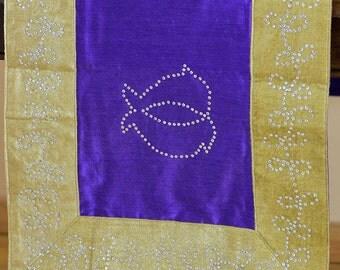 """Velvet Sparkle Table Runner (Purple, 70"""" X 16"""")"""