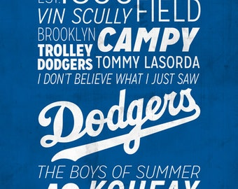 Los Angeles Dodgers Print