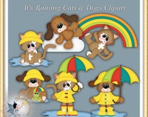 It's Raining Cats and Dogs Clipart