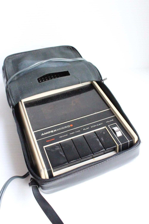 vintage ampex micro 9 cassette player tape recorder great. Black Bedroom Furniture Sets. Home Design Ideas