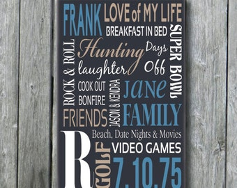 Personalized Gift for Man,Man Husband Boyfriend Birthday Gift,Father's Day Gift,Personalized Husband Wedding Gift,Custom Wood Sign