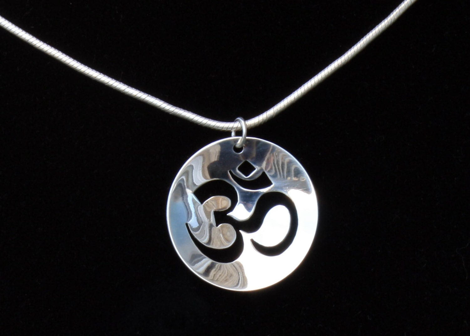 silver om necklace sterling silver om pendant jewelry