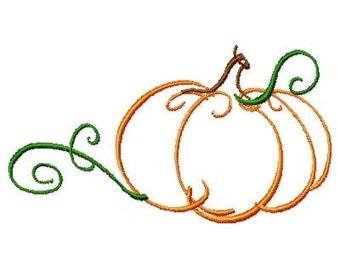 Machine Embroidery Pumpkin Outline 2