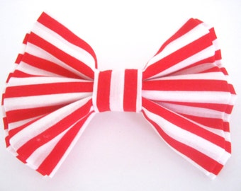 Red and White Dog Bow Tie