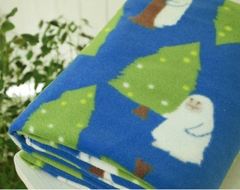 Fleece Fabric Snowman By The Yard
