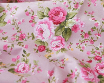 Twill Cotton Fabric Rose Pink By The Yard