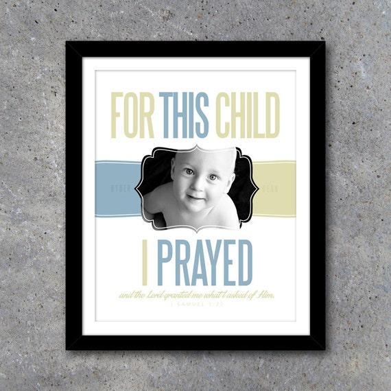 For This Child I Prayed Custom Wall Art – Printable Digital File ...