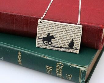 Classic Literature - Jane Eyre Silhouette Illustration Shrink Plastic Necklace