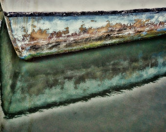 Abstract Boat Reflection, Seascape