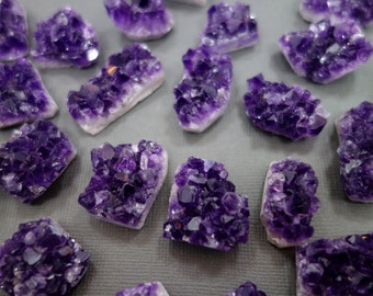 Amethyst Druzy Cluster - Natural Raw Purple Amethyst Cluster from Brazil - Natural Stone Birthstone