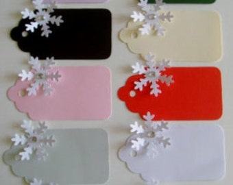 10 3D Snowflake name Place cards christmas gift tags for weddings parties table decoration