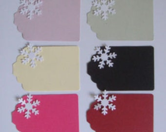 10 Small Snowflake name Place cards christmas gift tags for weddings parties table decoration